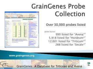 GrainGenes  Probe Collection