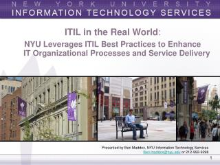 ITIL in the Real World :