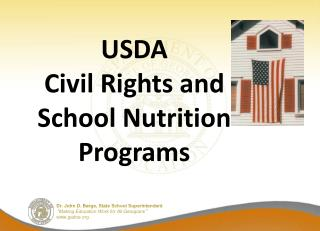 USDA  Civil Rights and  School Nutrition Programs