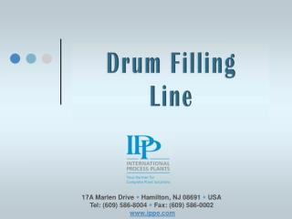 17A Marlen Drive w Hamilton, NJ 08691 w USA Tel: (609) 586-8004 w Fax: (609) 586-0002 ippe