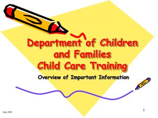 Department of Children and Families  Child Care Training
