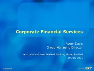 Corporate Financial Services