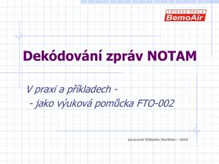 Dekódování zpráv NOTAM