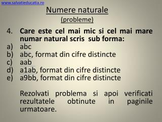 Numere naturale ( probleme )