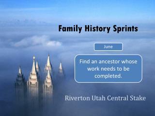 Family History Sprints