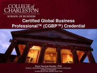 Certified Global Business Professional ™  (CGBP ™ ) Credential