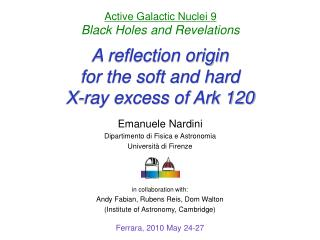A reflection origin for the soft and hard X-ray excess of Ark 120