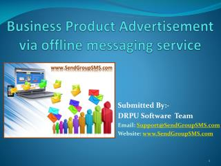 Business product advertisement via offline messaging service