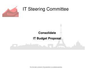 IT Steering Committee
