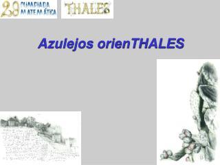 Azulejos orienTHALES