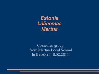 Estonia Läänemaa Martna