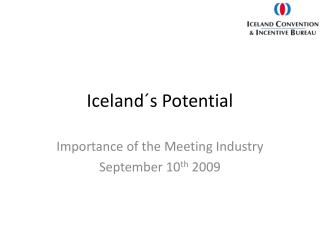 Iceland´s Potential