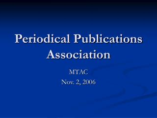 Periodical Publications Association