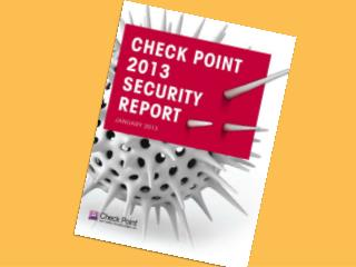 The Check Point Security Report 2013