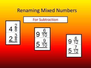 Renaming Mixed Numbers