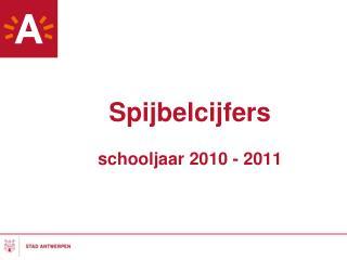 Spijbelcijfers schooljaar 2010 - 2011