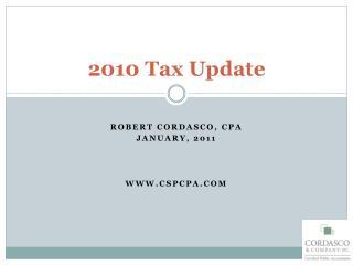 2010 Tax Update