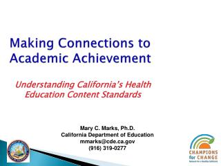 Making Connections to Academic Achievement