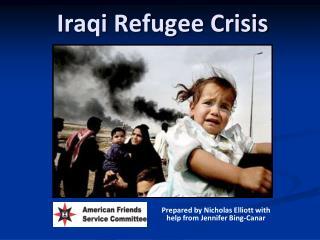 Iraqi Refugee Crisis