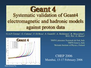 Systematic validation of Geant4 electromagnetic and hadronic models against proton data