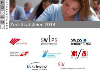 Zertifikatsfeier 2014