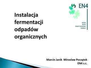 Instalacja fermentacji odpadów organicznych