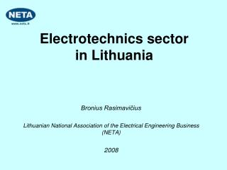 Electr otechnics sector  in Lithuania