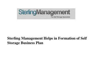 Sterling Management Helps in Self Storage Business Plan