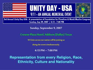 Sunday, September 9, 2007 Crowne Plaza Hotel, Addison (Dallas) Texas