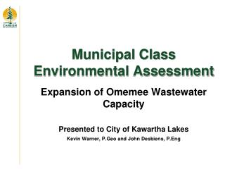 Municipal Class Environmental Assessment