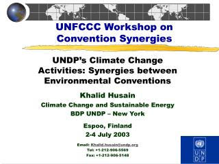 UNFCCC Workshop on Convention Synergies