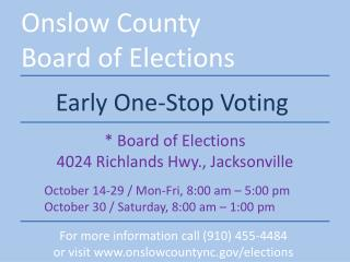 Onslow County Board of Elections