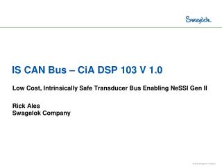 IS CAN Bus – CiA DSP 103 V 1.0
