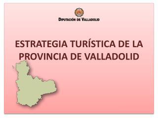 ESTRATEGIA TURÍSTICA DE LA PROVINCIA DE VALLADOLID