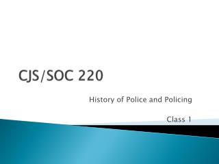 CJS/SOC 220