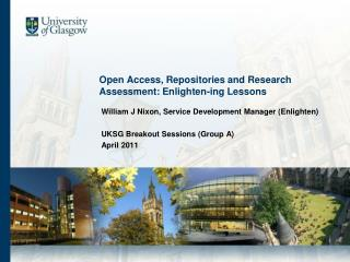 Open Access, Repositories and Research Assessment: Enlighten-ing Lessons