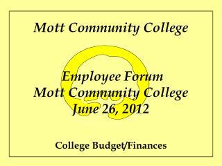 College Budget/Finances