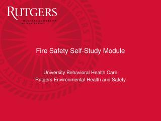 Fire Safety Self-Study Module