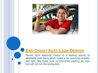 Auto Loans Denver