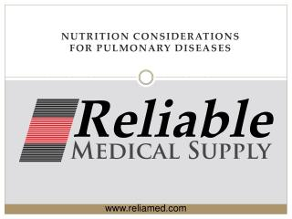 Nutrition Considerations for pulmonary diseases