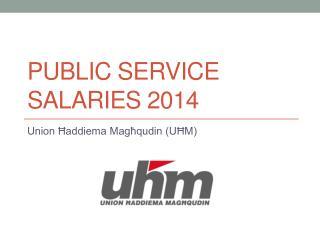 Public Service salaries 2014