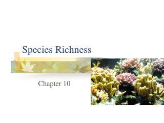 Species Richness