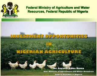 Federal Ministry of Agriculture and Water Resources, Federal Republic of Nigeria