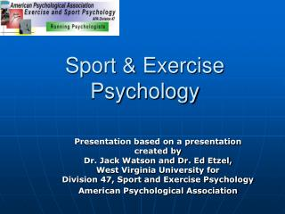 Sport  Exercise Psychology