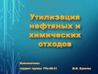 Исполнитель:  студент группы ТПв-08-21                 М.В.  Букатин