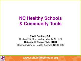 NC Healthy Schools & Community Tools