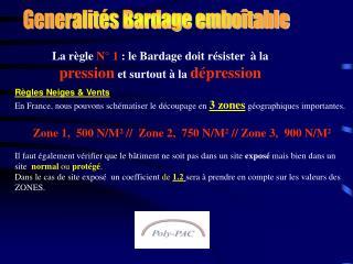 Generalités Bardage emboîtable
