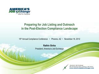 Preparing for Job Listing and Outreach  in the Post-Election Compliance Landscape