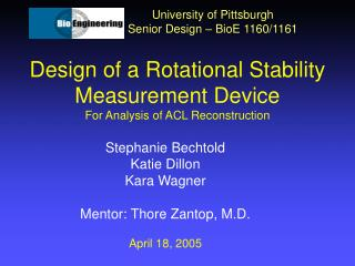 Design of a Rotational Stability Measurement Device For Analysis of ACL Reconstruction