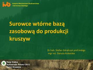 Targi Kielce  Autostrada Polska 2012  Salon Kruszyw